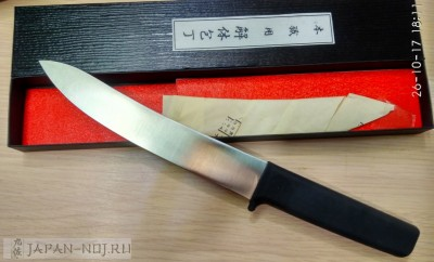 Мясной нож -meat knife rubber handle